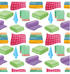 cartoon colorful towels seamless pattern vector image vector image