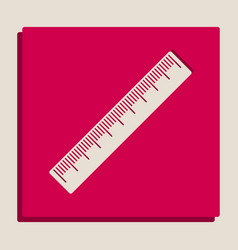 Centimeter ruler sign grayscale version vector
