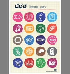 Ecology and nature web icons set vector image vector image