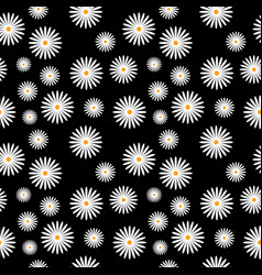 flowers background pattern vector image vector image