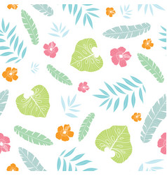 fun tropical summer hawaiian seamless vector image vector image