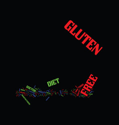 Gluten free diet and you text background word vector