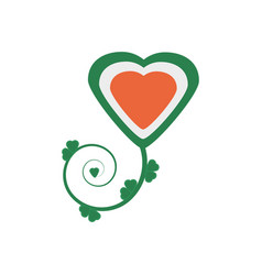 Heart shamrock decorative st patricks day vector