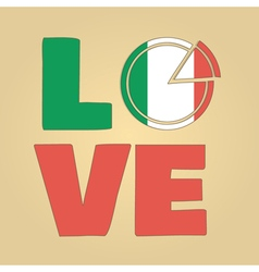love Italy vector image