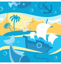 Magic fishing vector image