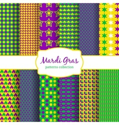 Mardi Gras carnival patterns collection vector image