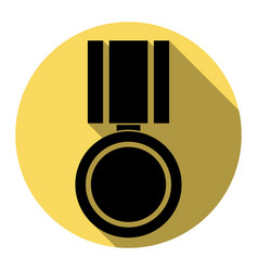 Medal sign flat black icon vector