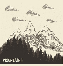 Mountain nature5 vector