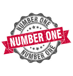 Number one stamp sign seal vector