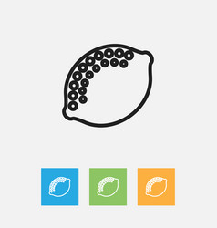 Of kitchenware symbol on lime vector