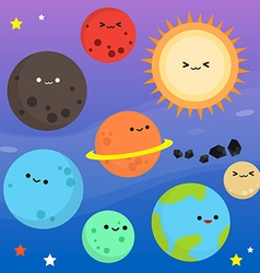 Planet cartoon clip art vector