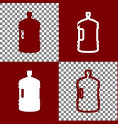 plastic bottle silhouette sign bordo and vector image