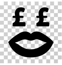 Pound prostitution smiley icon vector