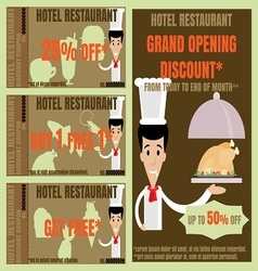 Restaurant advertise and coupon vector image vector image