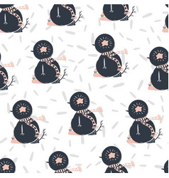 seamless merry christmas happy new year patterns vector image