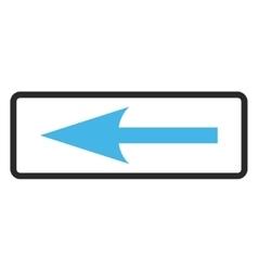 Sharp arrow left framed icon vector