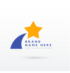 star logo design for your brand vector image