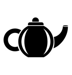 Teapot for drink icon simple style vector
