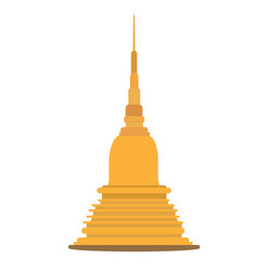 thai golden pagoda building of buddhism vector image