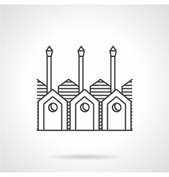 Timber processing factory line icon vector image