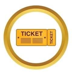 Train ticket icon vector image vector image