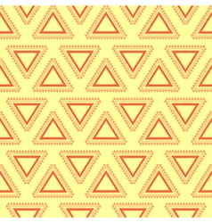Tribal yellow seamless pattern vector image vector image