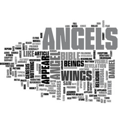 What do angels look like text word cloud concept vector
