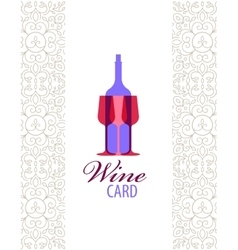 wine card icon logo menu cover vector image vector image