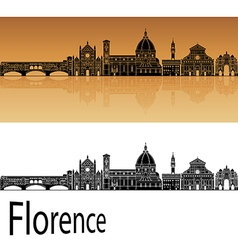 Florence skyline in orange vector
