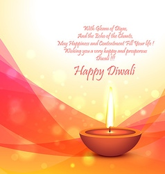 diwali festival card template vector image