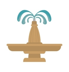 Fountain water decoration vector