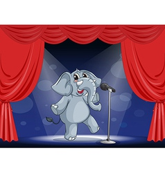 Cartoon performing elephant vector