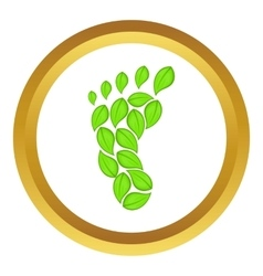 Eco footprint icon vector image