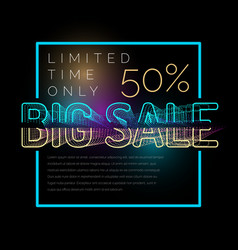big sale retro poster original banner for vector image