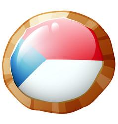 Flag icon design for czech republic vector