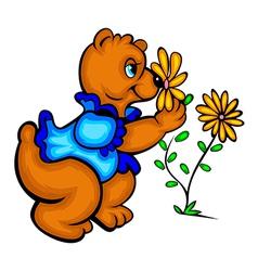 Smelling bear vector