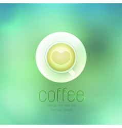 coffee cup against on abstract background vector image
