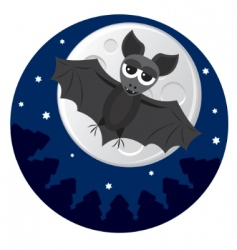 Cute bat vector