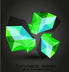 futuristic dimensional boxes vector image