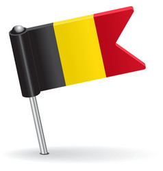 Belgian pin icon flag vector