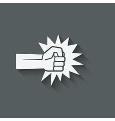 Fist punch symbol vector