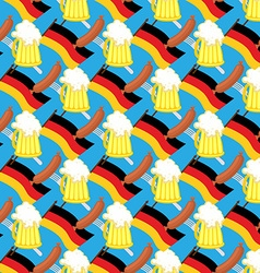 Beer mug and flag of germany seamless pattern of vector