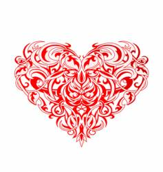 Tribal art heart vector