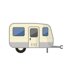 Family camping truck vector