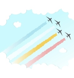 Parade plane backgroundjoy peace colourful design vector