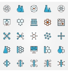Chemistry flat icons vector