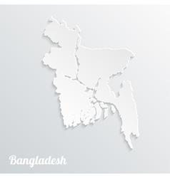 Abstract icon map of bangladesh vector