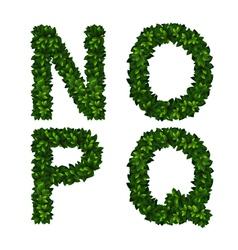 Alphabet nopq vector image vector image