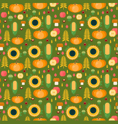 autumn harvest seamless pattern vector image vector image
