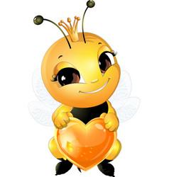 Beautiful cute bee vector